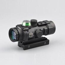 Taktik optik sight 3×32 gp01 fiber prizma kırmızı/yeşil işıklı sight tüfek ile balistik cq reticle