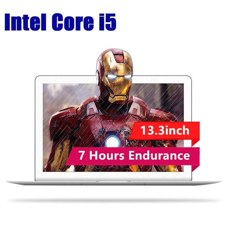 13.3 pouces Intel Core i5-5200U 8 gb RAM 128 gb SSD 1920*1080 p IPS Écran Windows Système 10 métal Ultrabook Ordinateur Portable Ordinateur portable