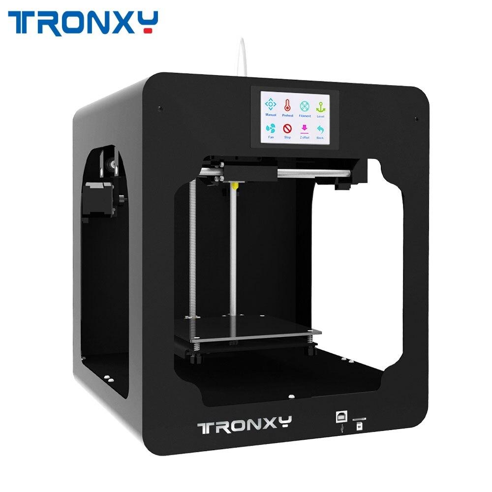Tronxy C2 Full Metal Intégré 3D Imprimante 3.5 pouces Écran T_ouch Directe Extrudeuse/Double Ventilateur Support Hors-ligne imprimer Pour Enfants
