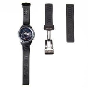 Image 4 - 20Mm 22Mm Sport Rubber Silicone Voor Samsung Gear Galaxy S3 Frontier Klassieke Waterdichte Horloge Band Strap Gebogen End armband Man