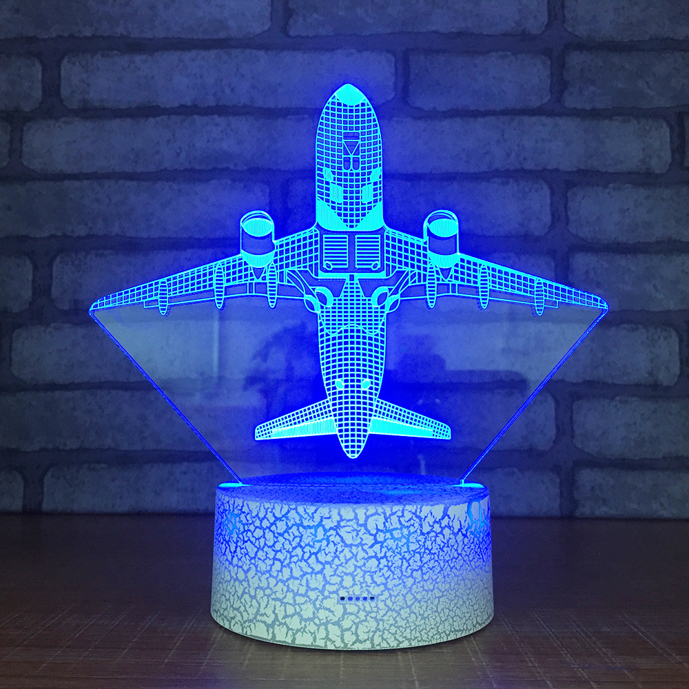 Temperate Christmas Gift For Baby 3d Desk Lamp Creative Touch Screen Lamp Acrylic Crack 3d Night Light Usb Factory Direct Table Lamps