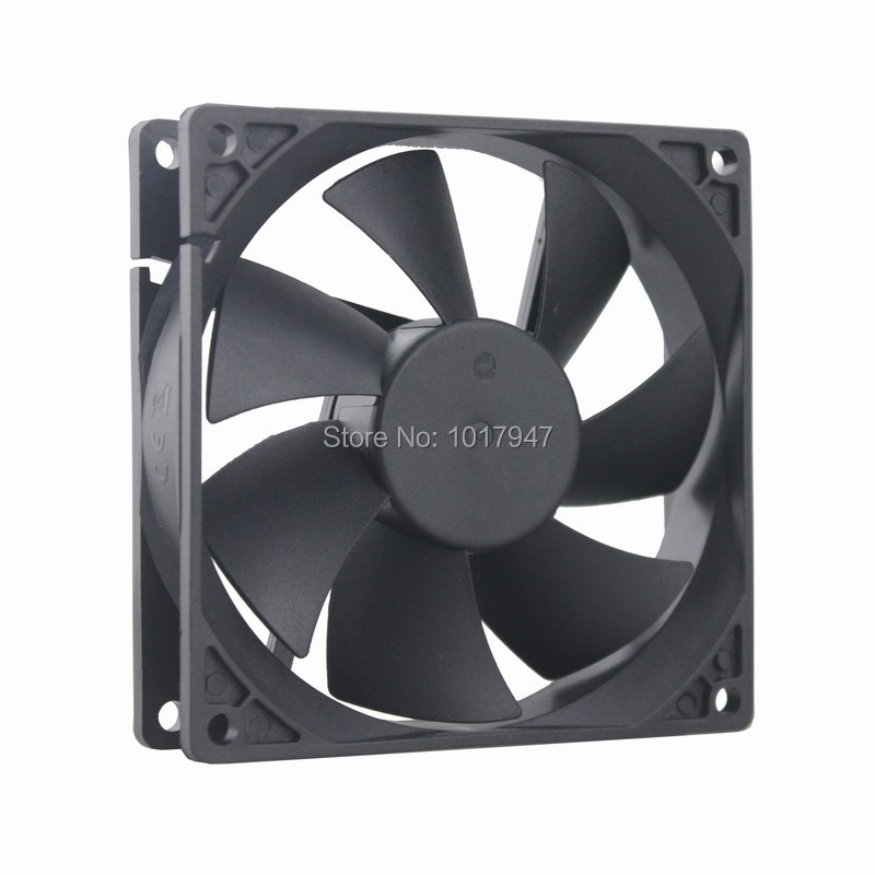 Купить с кэшбэком 10Pieces LOT Gdstime DC 12V 2Pin Part 9cm  9225s 92mm 92x92x25mm Industrial Cooling Fan