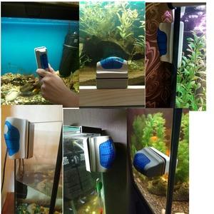 Image 4 - 2017 yeni manyetik akvaryum balık tankı cam yosun kazıyıcı temizleyici manyetik fırça akvaryum tankı balık akvaryumu araçları yüzer fırça