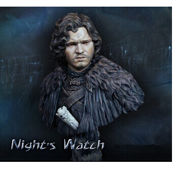 <font><b>1/10</b></font> <font><b>Scale</b></font> Models A Song of Ice and Fire Jon Snow Resin <font><b>Bust</b></font> Model Free Shipping image
