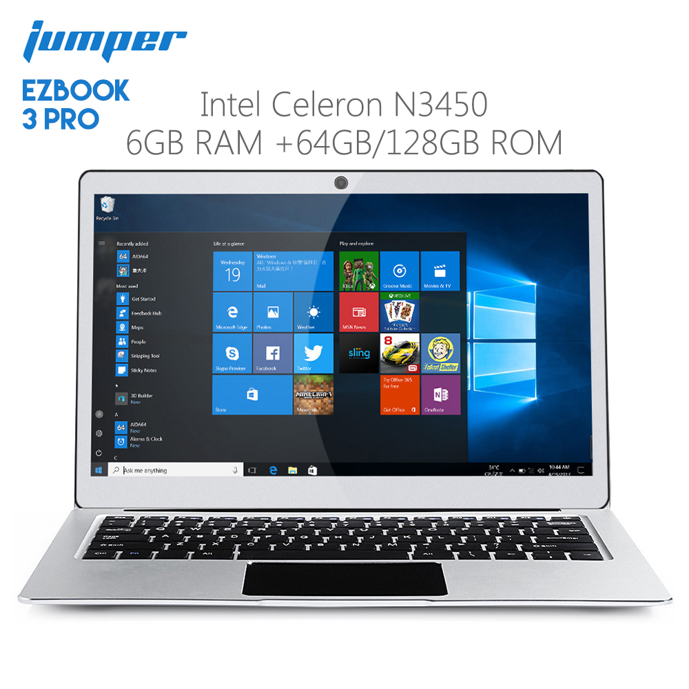Original Jumper EZBOOK 3 PRO 13.3 inch Notebook Windows 10 Intel Apollo Lake N3450 6GB RAM 64GB Laptop eMMC HDMI Dual WiFi