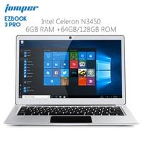 Original Jumper EZBOOK 3 PRO 13.3 inch Notebook Windows 10 Intel Apollo Lake N3450 6GB RAM 64GB Laptop eMMC HDMI Dual WiFi