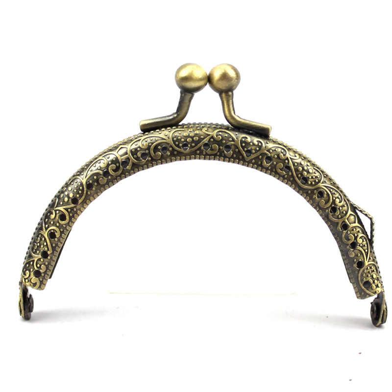10 шт/лот 8,5 см металлический кошелек рамка ручка для сумки клатч изготовление аксессуаров застежка заклепка рамка в античном стиле для сумки части