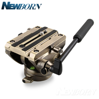 360 Fluid Drag Hydraulic Tripo Head Quick Release Plate for For ARCA SWISS Manfrotto Benro Tripod Monopod Bird Watching Head