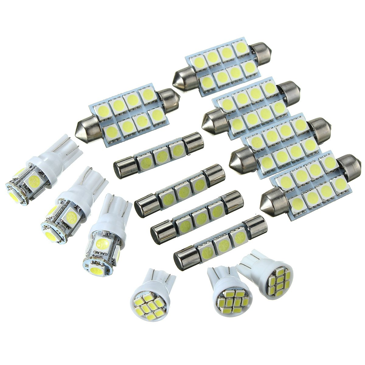 15PCS T10 5/8SMD Festoon 31/42MM LED Car Signal Lamp Light Interior Lighting Reading Lights Kit For Chevy Silverado Car Suit 2pcs 12v 31mm 36mm 39mm 41mm canbus led auto festoon light error free interior doom lamp car styling for volvo bmw audi benz