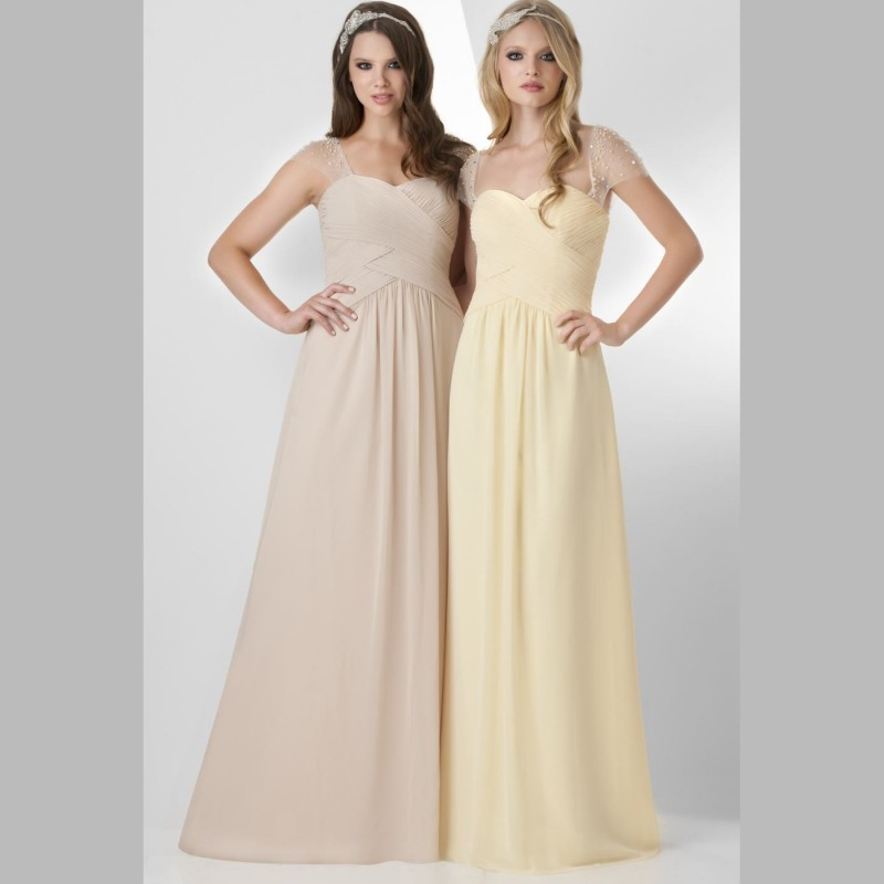 Cheap light yellow bridesmaid dresses