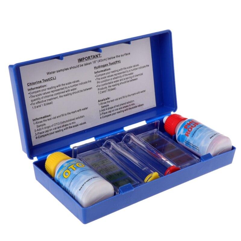 1 Set Ph Chlor Wasser Qualität Test Kit Schwimmen Pool Aquarium Zubehör Tester # Aug.26 Hohe Sicherheit