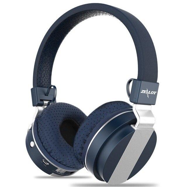 fb5fecc4b64 High Quality Bluetooth Headphone Zealot B17 Foldable TF card FM Radio Over  Ear HD Wireless headsets Good Bass With Mic