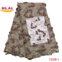 2018 African Lace Fabric 2018 High Quality French Lace Fabric Handmade Beaded Heavy Lace Fabrics For African Parties NA1520 1