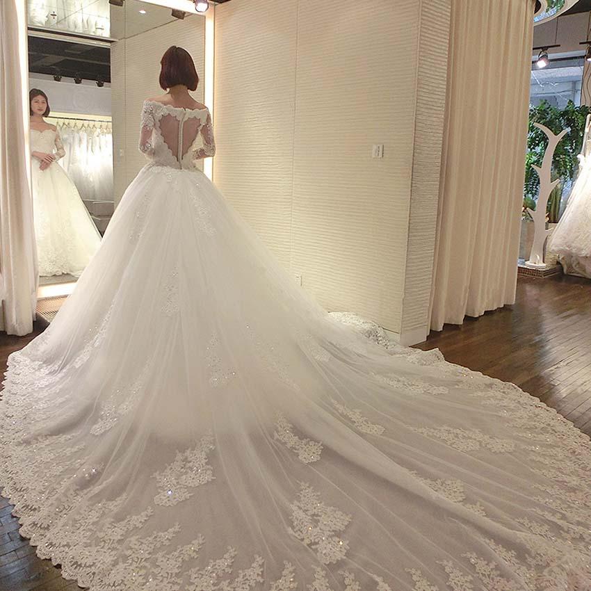 cc79261fd vestidos de novia con cola largas