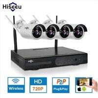 New 4ch Wireless CCTV System Powerful Wireless NVR Kit IP Camera IR CUT Bullet CCTV Camera