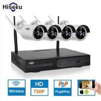 New 4ch Wireless CCTV System Powerful Wireless NVR Kit IP Camera IR CUT Bullet CCTV Camera