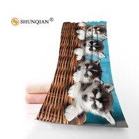 New Custom dog Shower Towel Big Size 140x70cm Cotton Bath Towel For your family FQI905 %qi56