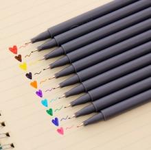 10 шт./компл. милые красочные 0.38 мм чернила на водной основе искусства крюк маркер Живопись дизайн Профессиональная ручка DIY Скрапбукинг канцелярские