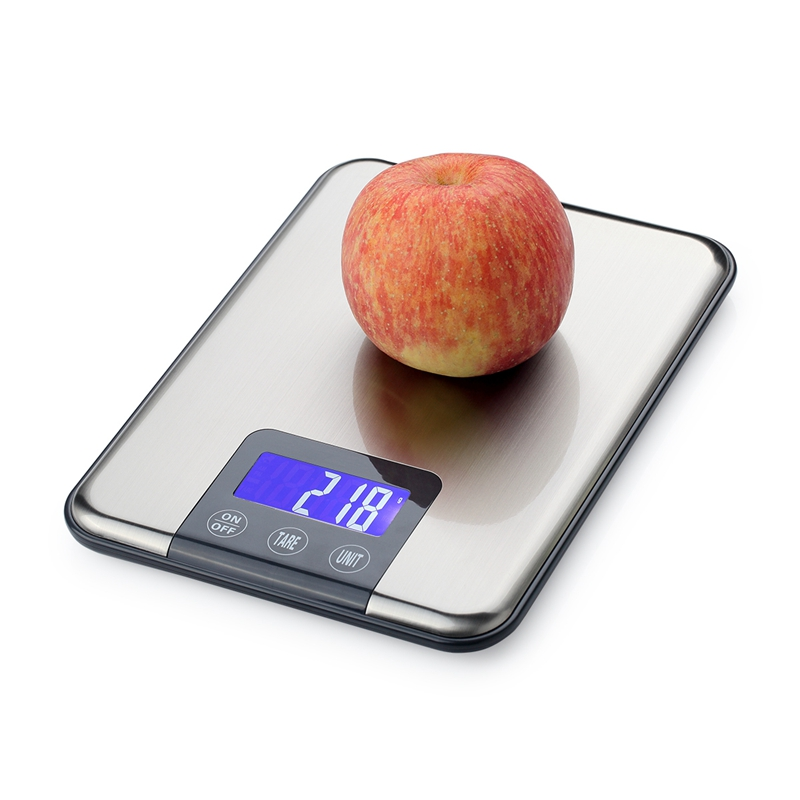 15KG LCD Electronic Kitchen Scales 15kg 1g Stainless Steel Diet Food Digital Scale Touch Grams Weighing Balance Blue Backlight digital 25kg x 1g 55lb parcel letter postal postage weighing lcd electronic scales