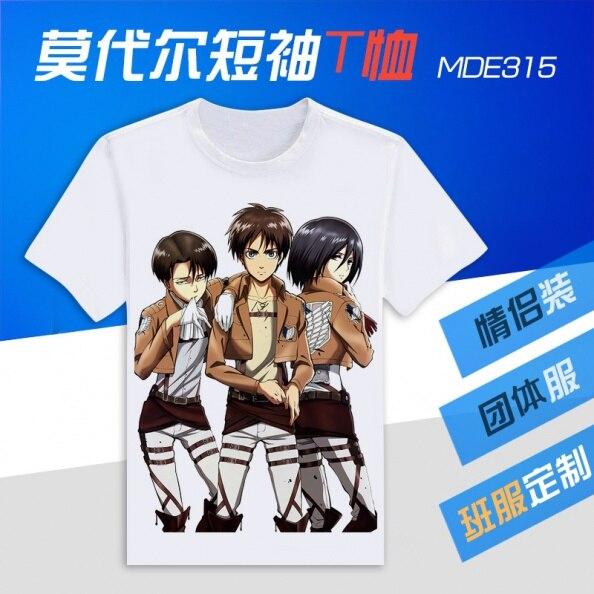 Shingeki no Kyojin Attack on Titan T-Shirt Novelty Fashion Anime OTAKU T Shirt Sexy Fun T-shirt cosplay costume Men&Women Shirt
