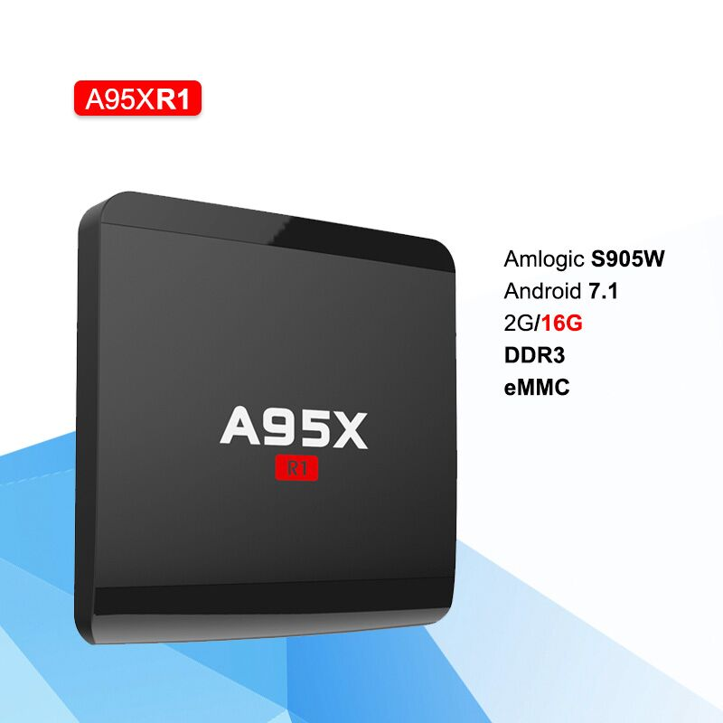 A95X R1 Android 7.1 1G/2G 8G/16G TV BOX Amlogic S905W TV Box Quad Core 4K Wifi Smart TV Box Media Player alfawise a95x r1 tv box