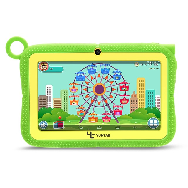 """Yuntab Kids Tablet Q88R 7"""" Allwinner A33,1.5Ghz Quad Core Android 4.4 Tablet PC,Supported with iWawa Software Parental Control"""