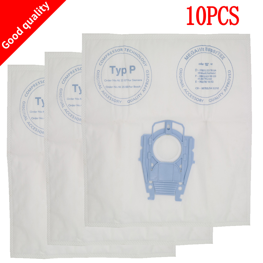 10 pcs vacuum cleaner dust bags for Bosch Vacuum Cleaner Hoover Dust Bags Type P 468264 461707 Hygienic professional BSG80000 free shipping vacuum cleaner dust bag fit for genuine bosch vacuum cleaner hoover dust bags type p 468264 461707 pack of 10