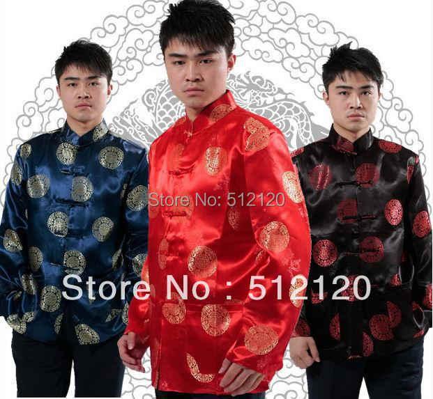 上海ストーリー長袖唐装シャツ繁体字中国語メンズジャケット中国カンフーシャツマンダリン襟のジャケット