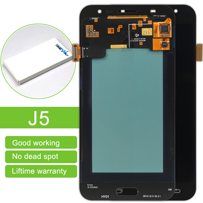 ФОТО Free dhl shipping 10 pcs/lot New Screen For Samsung J5 J500 J500F LCD Display Panel Repair Replacement Black/White/Gold