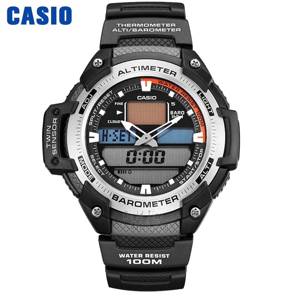 Casio watch  Outdoor mountain climbing multi-functional sports male watch SGW-400H-1B SGW-400H-1B2 casio часы casio sgw 600h 1b коллекция digital