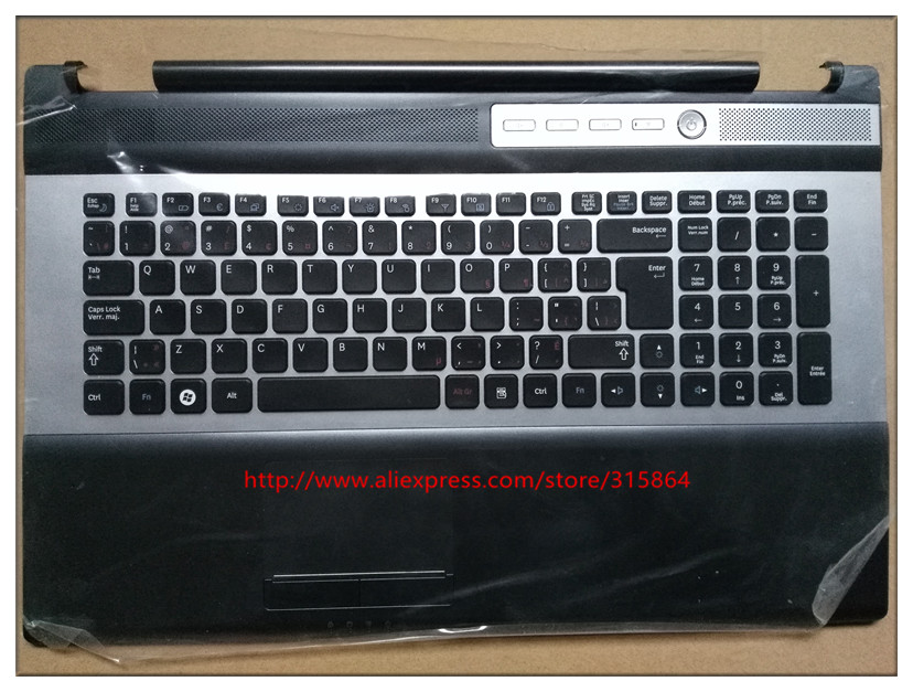 New new laptop keyboard with c case shell palmrest for SAMSUNG RF710 RF711 BA75-02698J Canada layout kr korean for samsung sf510 laptop keyboard with c shell blue