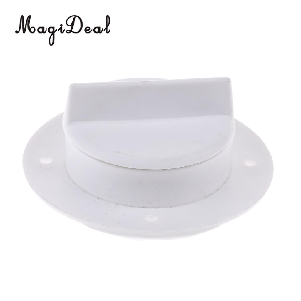MagiDeal Durable Nylon Marine Boat Raft Yacht Transom Deck Drain Scupper Valve Bung Stopper with Screw Cap Hardware