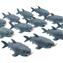 цена на Plastic Creative Anti Stress Squeeze Toys Hungry Shark with Pop Out Surfer Leg Toy Stress Relief Funny Spoof Trick Gift