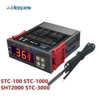 STC 100 STC 1000 SHT2000 STC 3000 AC 110 220V DC 12V 24V Digital Thermostat Hygrometer Temperature Controller Thermometer Sensor|Temperature Instruments| |  -
