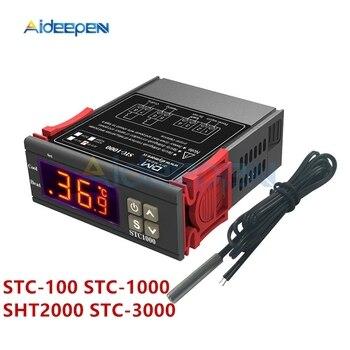 STC-100 STC-1000 SHT2000 STC-3000 AC 110-220V DC 12V 24V Digital Thermostat Hygrometer Temperature Controller Thermometer Sensor