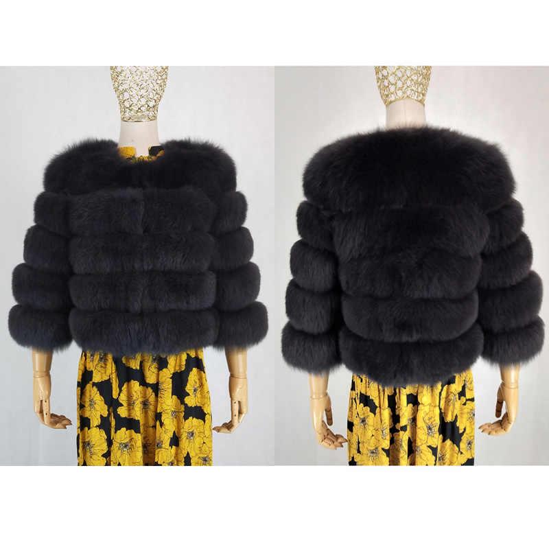Natürliche Echt fox pelz Mantel Für Frauen Winter Mode Dicke Warme Pelz Jacke 2018 Neue Kurze Outwear Luxus Echtem Pelz mantel Weibliche
