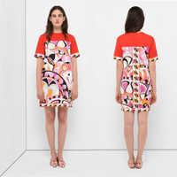 新のためのファッションスタイル半袖、半袖、美しく印刷された、弾性、スリムドレス。
