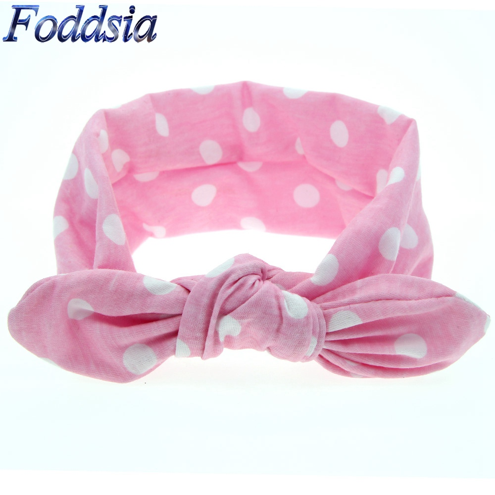 Hair Accessories Hot Sale Foddsia 1pcs Girls Hair Accessories Dot Bowknot Print Floral Headband Children Rabbit Ears Elastic Hair Bands Baby Headwear B15 Catalogues Will Be Sent Upon Request