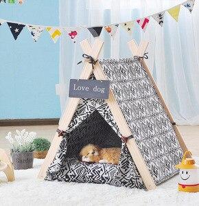 Домик для собак с ковриком, складная палатка для домашних животных, кровать для собак, домик для кошек, кровать для маленьких средних собак, ...