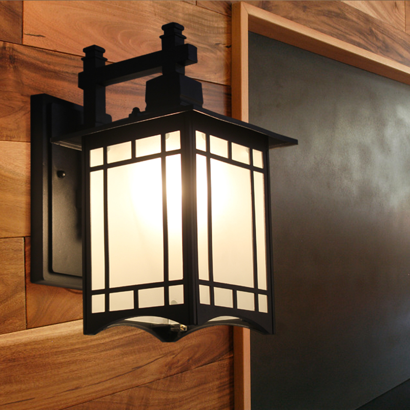 Japanese Wall Sconces: American Road Wall Lamps Outdoor Light Iron Japanese Style