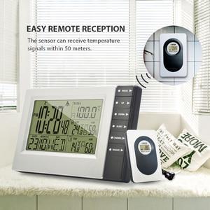 Image 5 - Wireless Weather Station Digital Display Alarm Clock Sauna Temperature Indoor Outdoor Thermometer Hygrometer most up 4 Sensors