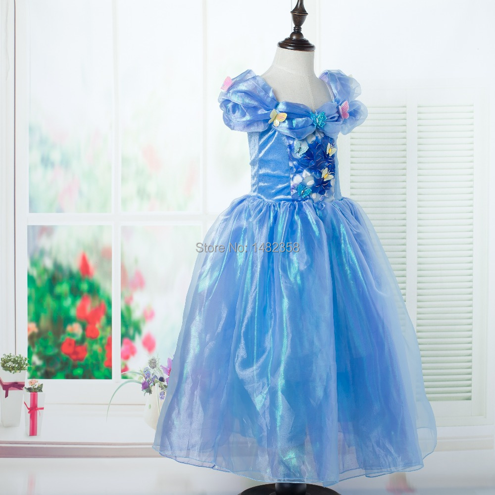 New butterfly Cinderella princess girl dresses birthday party summer ...