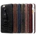 Para iphone 6 s plus/6 plus 5.5-inch rígido capa shell 3d cabeça do crocodilo pu couro da pele casos de telefone pc para o iphone 6 s além de