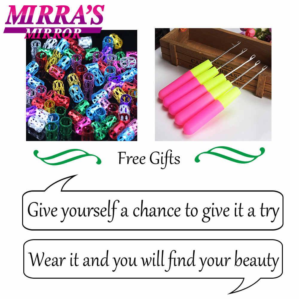 Mirra's зеркальные цветные плетения волос для наращивания синие синтетические косички для наращивания волос длинные, радужной расцветки косички волос два/три тона