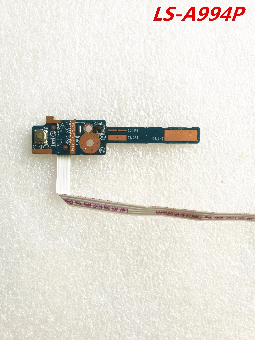 98% New Laptop Power Button Board Switch Board Switch Cable For HP Pavilion14-G 14-R 14-s G1 240 242 246 248 LS-A994P