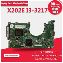 X202E I3-3217U RAM For ASUS X202E X201E S200E Laptop Motherboard REV:2.0 HM76 100% working free shipping