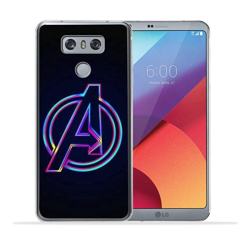 Роскошные Marvel Мстители Железный человек танос чехол для крышки LG X Экран Мощность 2 3 G3 G4 G5 G6 G7 V30 Q6 Q8 K7 K8 K10 2017 мягкая Etui