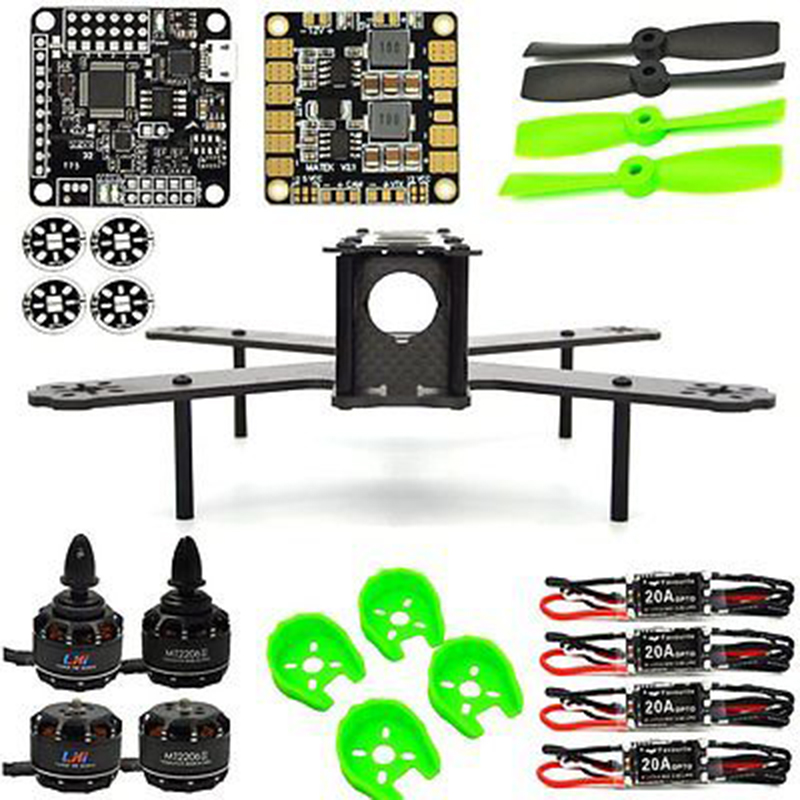 drones  fpv drone with camera quadcopter FPV ARF 210mm Pure Carbon Fiber Frame + NAZE32 REV6 6 DOF 1900KV LittleBee 20A 4050 FPV frame f3 flight controller 2206 1900kv motor 4050 prop rc fpv drone with camera plane 210 mm carbon fiber mini quadcopter