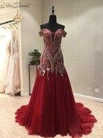 新しいエレガントなロングイブニングドレス2018恋人ネックノースリーブ裁判所の列車ビーズシフォンaラインウエディングドレスvestidoデ·フェス