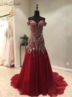 New Elegant Long Evening Dress 2018 Sweetheart Neck Sleeveless Court Train Beading Chiffon A Line Prom